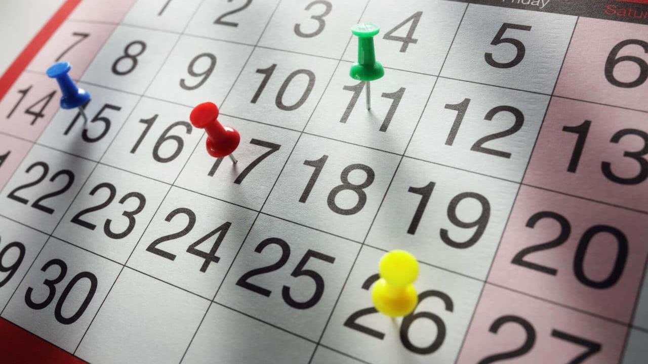 Calendario de datas comemorativas